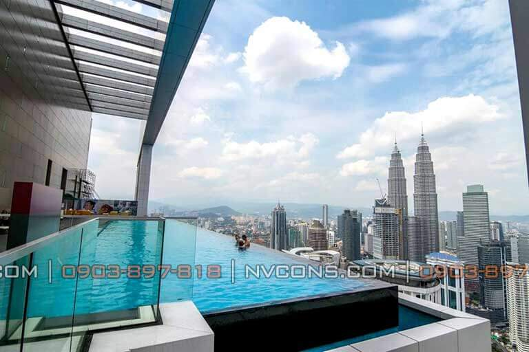 the face suites kuala lumpur infinity pool